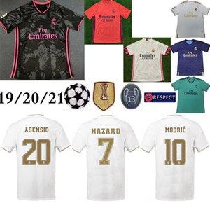 20 21 Реал Мадрид дома #7 опасности футбол Джерси тайский 2019 высокое качество Модрич Марсело человек футболка Бэйл Асенсио третий комплект футбол Джерси
