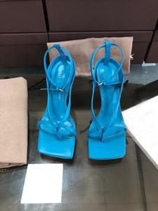 новые кожаные туфли на шпильке, флип носком пятки, сексуальные блок носком сандалии, размеры 35-42, с коробкой и мешком для пыли