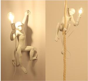 Estilo Italiano mono lámpara de mesa de luces de iluminación luminaria industrial cuerda del cáñamo Lámpara de la vendimia LAMPADARIO Moderno Accesorios