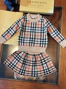 Due pezzi Outfits 2019 Nuovo motivo Abbigliamento Bambini Set manica lunga Anche Mezzanotte vestito i vestiti dei bambini 0714