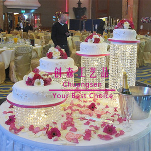 Event & party supplies event & party item type and cake accessory type clear wedding cake stand