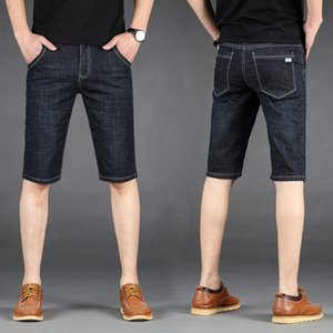 Mens Jeans Summer Stretch Lightweight Blue Denim Jeans Short for Men Jean Shorts Pants Plus Size Large Size 40 41 42 44 46