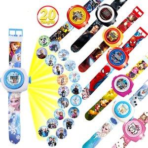 Marvel Avengers Proyección mágica Reloj Juguetes para proyección 3D Relojes de pulsera Aparatos electrónicos Super héroes Figuras de acción Juguetes para niños 4651