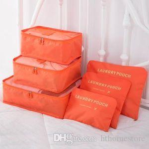 Оптово DINIWELL 6 PCS Путешествия сумка для хранения Набор для одежды Tidy Органайзер Сумка Чемодан Home Шкаф Разделитель Контейнер Организатор