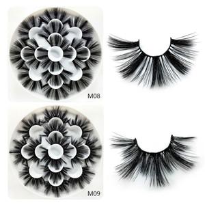 3D Nerz Wimpern Natürliche Falsche Wimpern Lange Wimpernverlängerung Faux Gefälschte Wimpern Makeup Tool 7 Paare / satz RRA1114