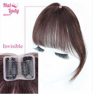 Bangs İnsan Saç Hava Bang Brezilyalı Saç adet Görünmez Dikişsiz Olmayan remy Değiştirme Saç Peruk yılında Lady Güzellik Klip