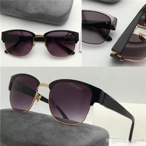 nouvelle marque de mode desinger suglasses G4106 demi-cadres carrés en métal unti-uv 400 lunettes de protection de la lentille pour hommes avec boîte d'origine