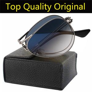 Marca óculos de sol modelo 3479 dobramento da aviação sol vidro UV400 lentes para homem mulher com pacotes de casos de couro todos os acessórios
