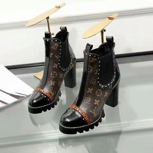 Tasarımcı Ayakkabı 2020 Retro Ultra Orta Tüp Çizmeler Deri Bayan Tasarımcıları ayakkabı Çizmeler Bayanlar Güz Kış Çizmeler Artı Boyutu Için Gerçek Resim
