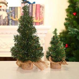 20 / 30cm decoración de la tabla del árbol de Navidad Mini lindo escritorio verde artificial fiesta de Navidad árbol de Navidad de lino Pequeño árbol de pino DBC VT0852