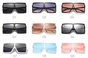 Женщины негабаритных солнцезащитные очки модные стрижки квадратная рамка солнцезащитные очки X большой зеркальный плоской вершиной солнце стекло США ЕС стиль большой кадр старинные очки доставка DHL