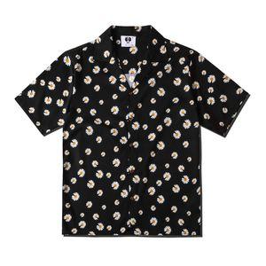 Avrupa Bahar yaz Erkek Kadın allover papatya marguerite serin kısa kollu krizantem gömlek rahat moda gömlek tasarımcı Tee