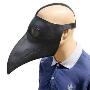 Plague Doctor Bird Mask Latex Long Nose Beak Cosplay Steampunk Halloween Mask Costume Props