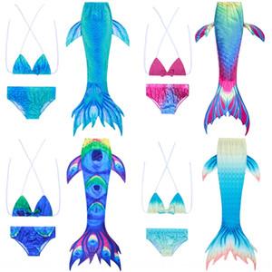 2020 bambini in tre pezzi ragazze della molla calda 2020 bambini Mermaid costume da bagno tre pezzi ragazze del vestito del costume da bagno caldo di primavera Mermaid