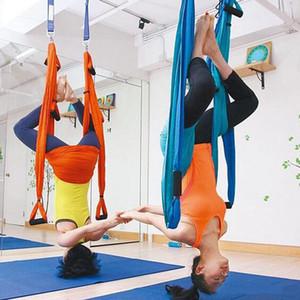 15 Couleur Yoga Hamac Upside Down swing Anti-gravité aérienne de traction Yoga Harmark Fitness Sangle Force Décompression balançoire XD22824