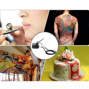 Dual Action Tattoo Airbrush Pen Spray Gun Nozzle for Nail Art Paint Tattoos Manicure Cake Spray Air Brush Tool