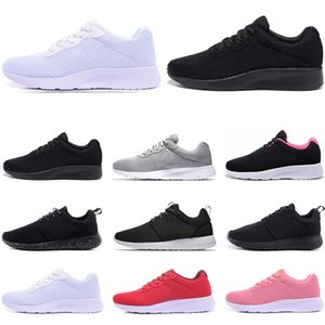 nike roshe Diseñador al por mayor Tanjun Run zapatillas para hombre mujer negro bajo ligero transpirable deporte olímpico de Londres zapatilla de deporte entrenador tamaño 36-45
