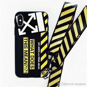 Hochwertige Tide weiche Silikonhülle Telefonkasten für iphone 11 pro max 6S 7 7plus 8 8plus X XR XS Max coque capa mit Lanyard