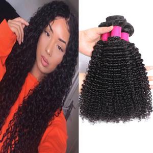9A Humano Brasileiro Pacotes cabelo reto da onda do corpo onda profunda Kinky Curly solto onda de 100% brasileira peruana Malásia Tece cabelo humano