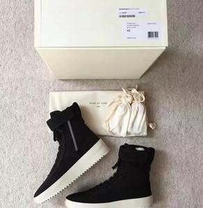 Mens 2019 Fear Of God 1 Light Bone Black Дизайнерские Кроссовки Мода Противотуманные Подушки Сапоги Спортивная Обувь Zoom