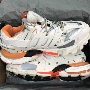 2020new Track 3.0 Triple Zapatos Zapatos de diseño en París Tess S Gomma Trek lujo de la zapatilla de deporte de la mujer blanca hombre de color naranja Clunky aire libre zapatos casuales