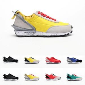NIKE Yüksek kalite Yeni Tasarımcı UNDERCOVER x Waffle Racer Spor Rahat Ayakkabılar Erkek Eğitmenler Siyah Sarı Mavi Sneakers ABD 7-11