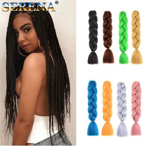 Xpression Hair Braiding Una Jumbo tono ganchillo Trenzas sintéticas extensiones de cabello Dreadlocks 24 pulgadas Braid 100% Kanekalon Hair Braiding