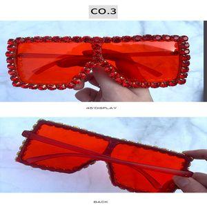 crystal square sunglasses Sunglasses Women Crystal Decoration Sunglasses Female Rhinestones Sunglass Classic Square Brand Designer Sun ic92H