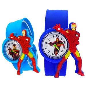 3D Bande Dessinée Iron Man Montre Enfants Cadeau garçons Montres Pour Enfant Enfants Montre Iron-man enfant horloge Étudiants Enfants Montres Bébé Jouets