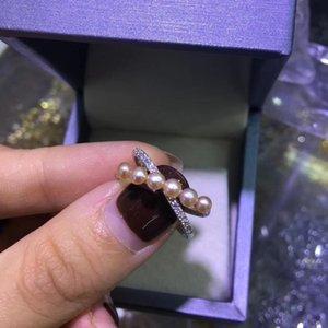 925 Sivler 2-3mm Taille perle perle d'eau douce naturelle pour les femmes