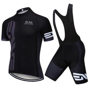 Nuova Estate DNA Cycling Jersey Biciclette Camicie / pantaloncini tuta Uomini Traspirante Bici Abbigliamento Maillot Ciclismo MTB Racing Vestiti Y022101