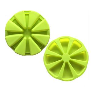 Diy 8 Puan Silikon Kalıplar Pizza Çanak Turuncu Şekilli Kalıplar Pişirme Kek Kalıp Yeşil Renk Sıcak Satış 6 5xw J1