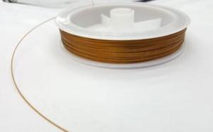 100 м х 0,45 мм Gold Tiger Tail Бисероплетение Thread проволока для браслетов заключений ювелирных изделий Изготовление Craft Бисероплетение DIY принадлежности NEW 20PCS