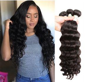 Viya Malaysian 9A-Frisur für lose lockige Haarmaschinen Doppelschussfußbündel Echte menschliche Haarverlängerungen können weich und glatt gefärbt werden