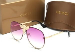 las gafas de sol de marca populares para las mujeres 2238 mujeres del estilo de diseño abeja grande unisex gafas de sol de conducción galsses sombra de las gafas