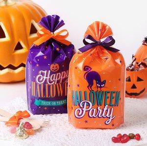 2019 새로운 핫 판매 비스킷 가방 플라스틱 선물 가방 포장 비스킷 사탕 가방 할로윈 파티 포장