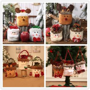 هدية عيد الميلاد حقيبة حقيبة الرباط الاطفال كاندي حقائب عشية عيد الميلاد أبل حقيبة شجرة عيد الميلاد شنقا زخرفة عيد الميلاد الديكور لحزب التعشيب
