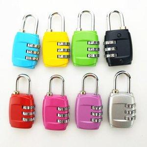 TSA Segurança Código de bagagem Locks 3 Digit Combinação de aço com chave Cadeados Aprovado bloqueio de viagem para malas senha bagagem 8 cores