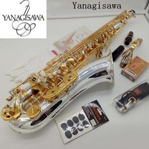 Nuovo Tenor Saxophone Yanagisawa W037 Strumenti Musicali Bb tono argento nichelato tubo Gold Key Sax con il caso Bocchino
