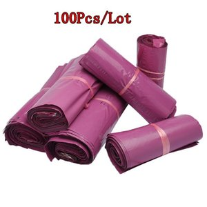 100Pcs Lot Purple Tote Bag Plastic Envelope Bag Self-seal Adhesive Courier Storage Bags Thick Waterproof Shipping Mailing