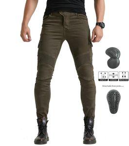 Armee grün Volero Motorpool UBS06 Jeans der Männer Motorrad-Jeanshosen Schutzausrüstung moto Hosen Renn