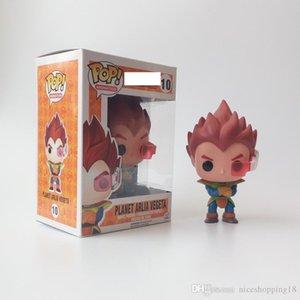50% de descuento en la Figura Promoción regalo Funko Pop Dragon Ball Z Goku Super Saiyan Dios planeta Vegeta Arlía Vinilo Acción con la caja