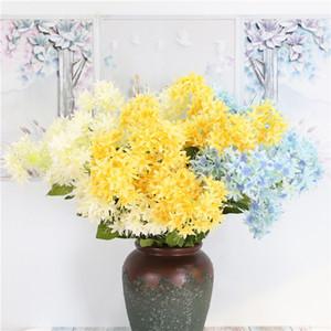 Photographie de mariage décoration de la maison 3 pcs tête fleur artificielle fausse guirlande artificielle hortensia guirlande unique branche de simulation