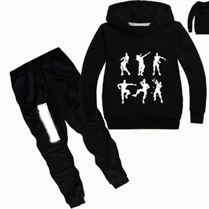 DLF 2-16Y Game Graphic Print Clothing Girls Set Kids Hoodies Tops Sweater Clothes + trousers Pants 2pcs Set Gifts Toddler Outfit