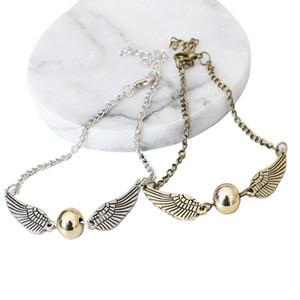 Мода Ha Po персонализированный Angel Wing Золотой мяч браслет для женщин Снитч Золотой Femme Bijoux Homme браслеты