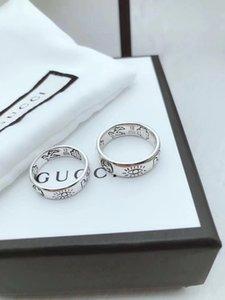 Toptan-Pres Komple Halka Aşk Korkusuz Çift Yüzük 925 Gümüş Yüzük Moda Takı Tasarımı en yüksek sürüm
