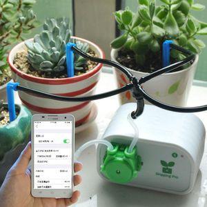 Cep Telefonu Kontrolör Su Pompası Zamanlayıcı Sistemi Damla Sulama Cihazı Kapalı Bitkiler Akıllı Bahçe Otomatik Sulama