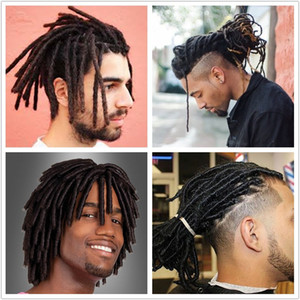 Black Brown Human Hair Dreadlocks Crocheted Hair Hip-Hop Style Reggae Culture Dreadlocks for Men Women 10pcs bundle