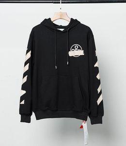 Womens felpe progettista OW nuova lettera di stampa casuale freccia pullover con cappuccio più la maglietta allentata versione maglione europea