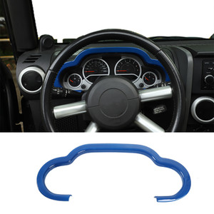 Car ABS Central Control Dash Board Decoration Cover Blue For Jeep Wrangler JK 2007-2010 car Interior Accessories